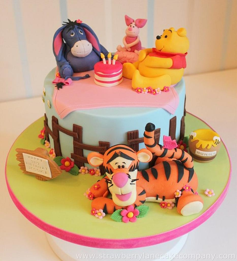Winnie the Pooh and Friends Cake by Strawberry Lane Cake Company