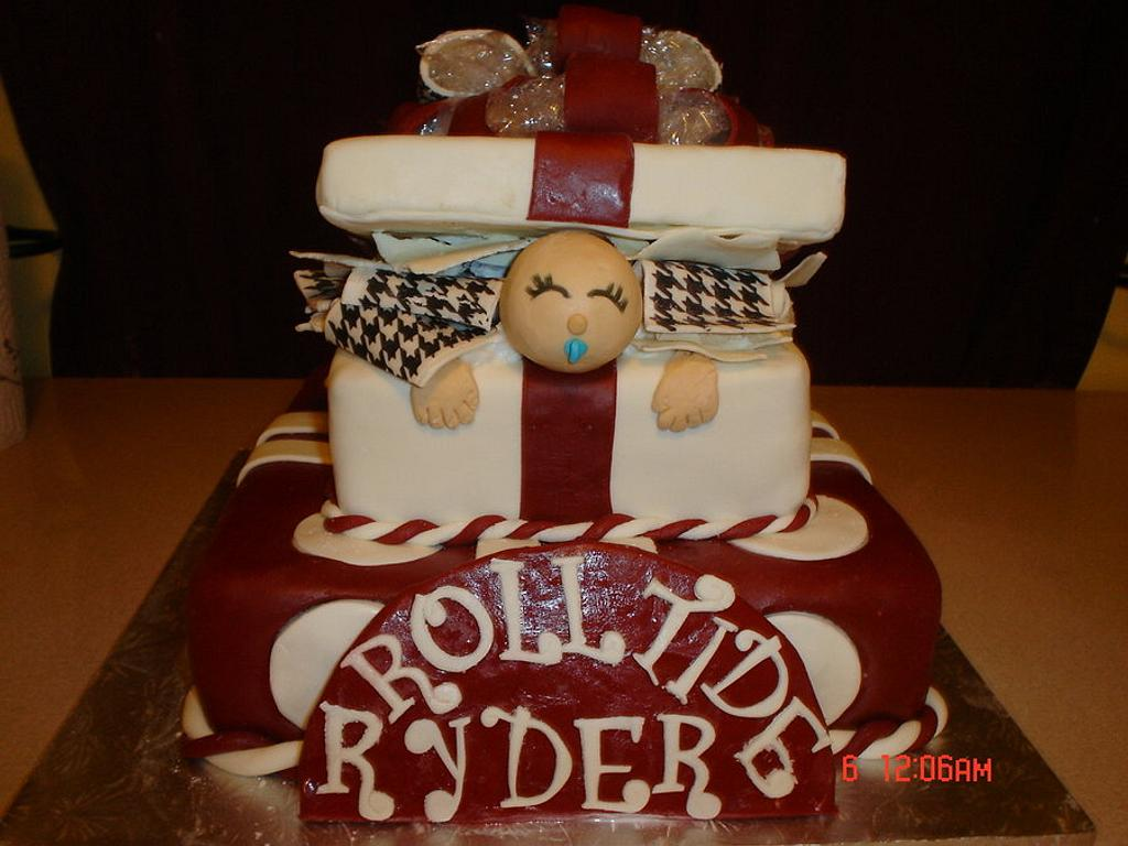 Alabama Baby in a Giftbox babyshower cake by Dana