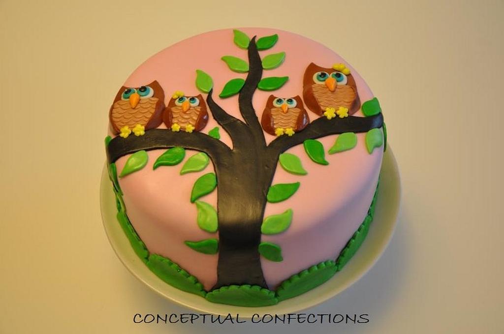 Owl Cake  by Jessica