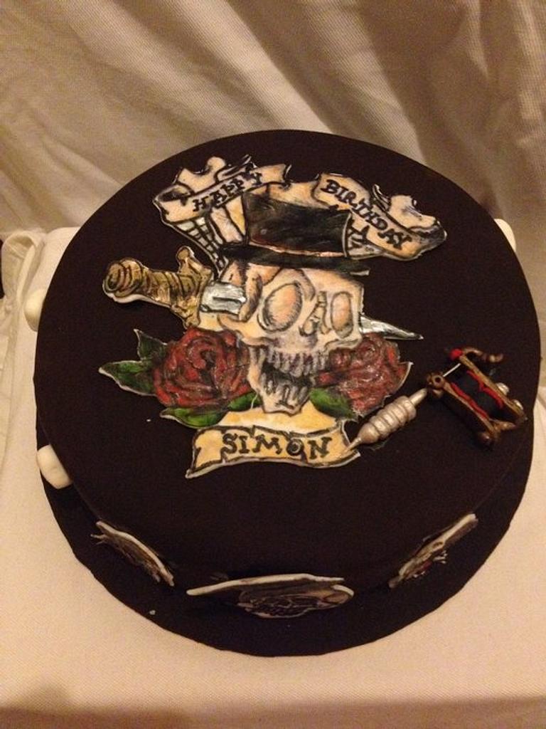 Tattoo Cake by emilylek