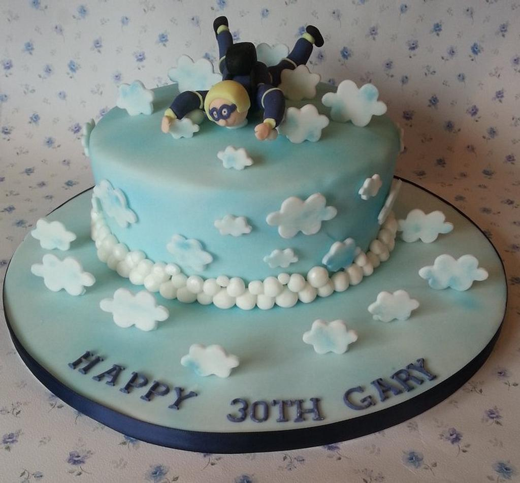 Skydiving cake by That Cake Lady