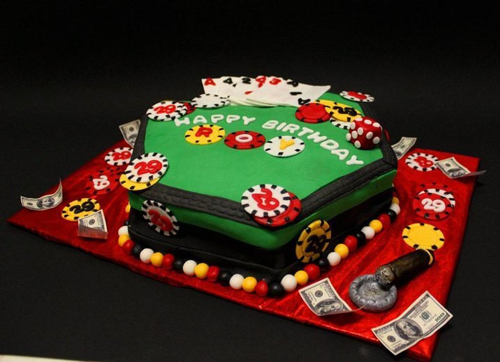 Poker birthday cake by Komel Crowley