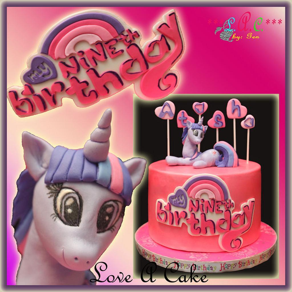 Twilight Sparkle-themed Birthday Cake by genzLoveACake