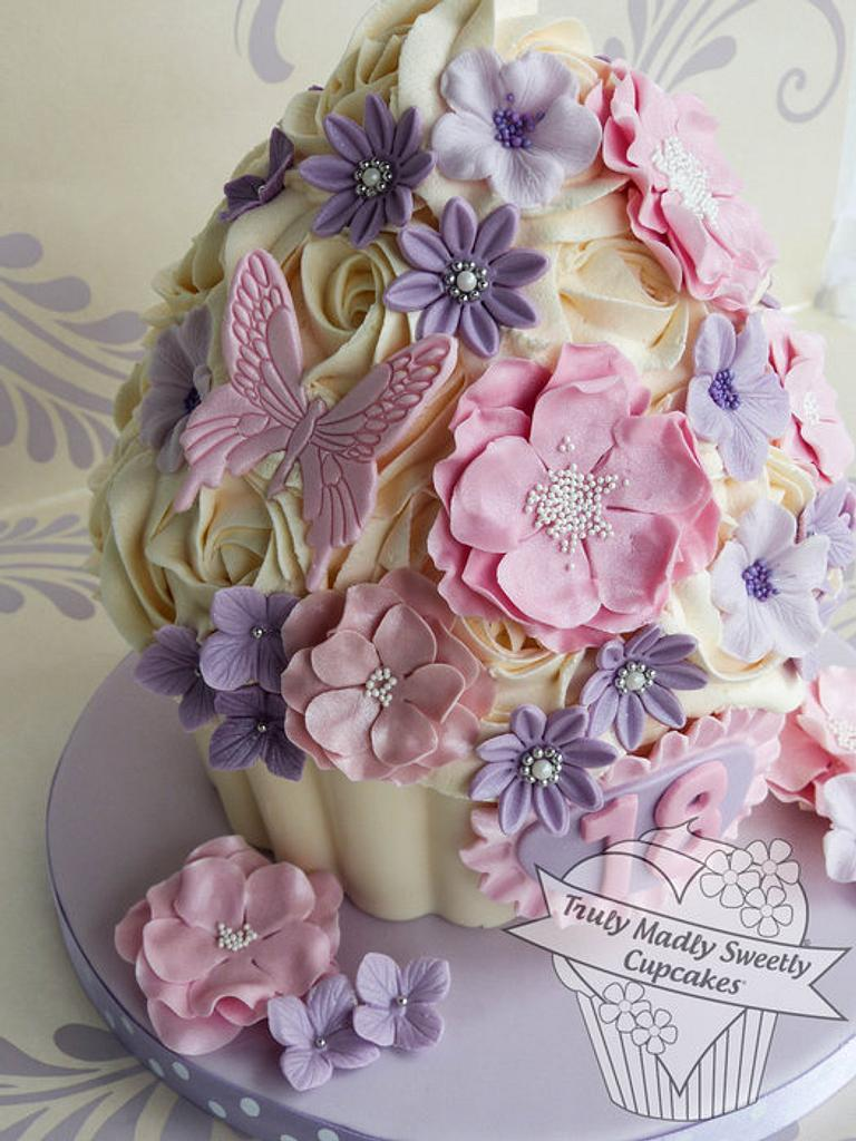 Pretty Pastels 18th Birthday Giant Cupcake by Truly Madly Sweetly Cupcakes
