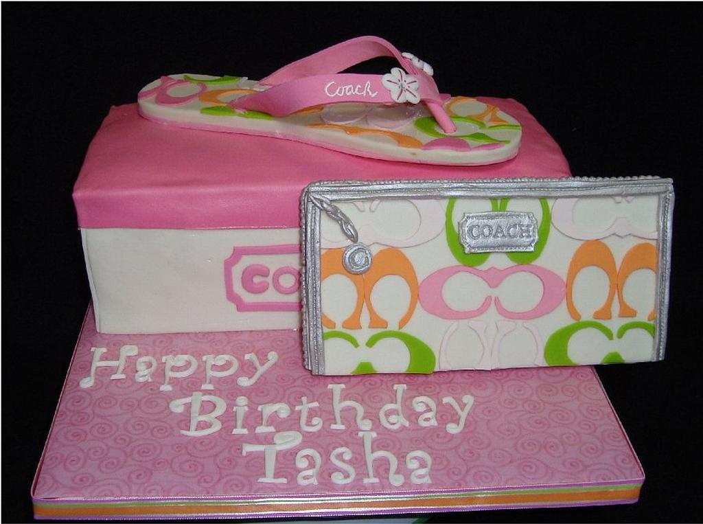Coach Purse and Flip Flops by Toni (White Crafty Cakes)
