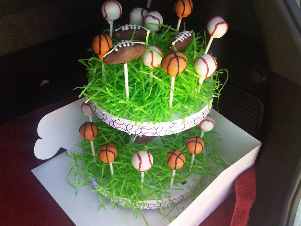 sports cake pops by AngieW