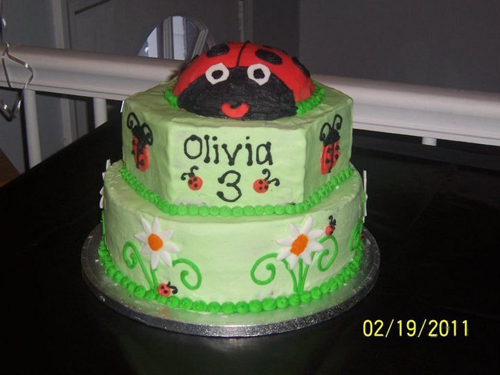 ladybug Cake by michelle