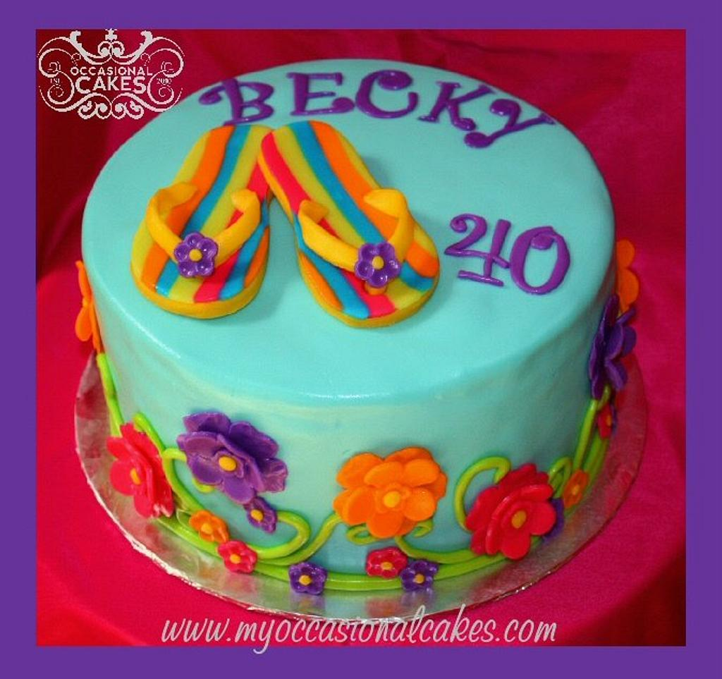 Flip-Flop cake by Occasional Cakes