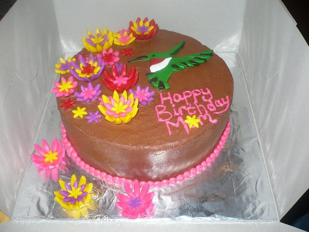 Spring Birthday cake by Ashley