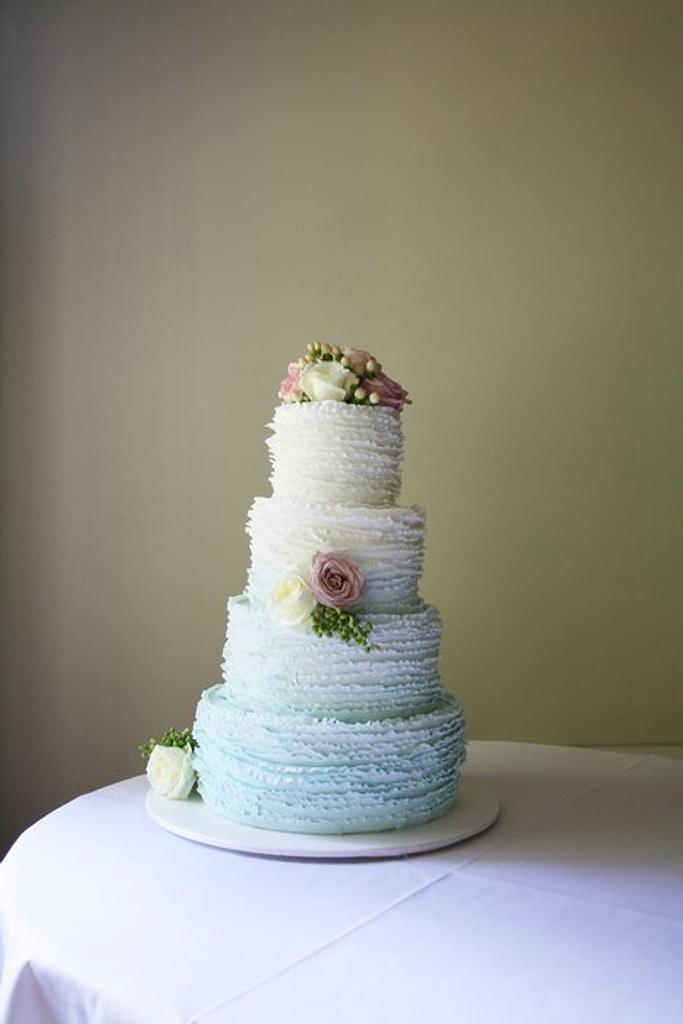 4 Tier Ombre Frills by Louisa