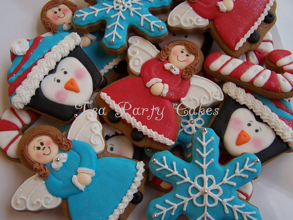 Christmas Gingerbread Cookies by Tea Party Cakes
