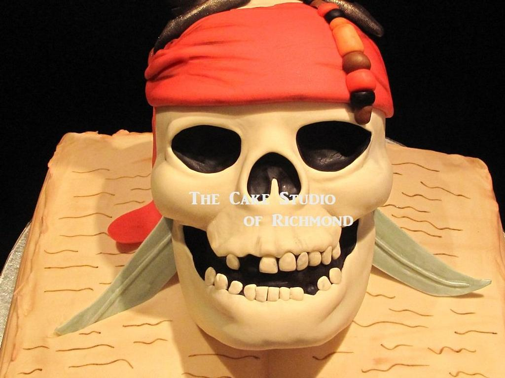 Pirates of the Caribbean cupcake tower by Lisa