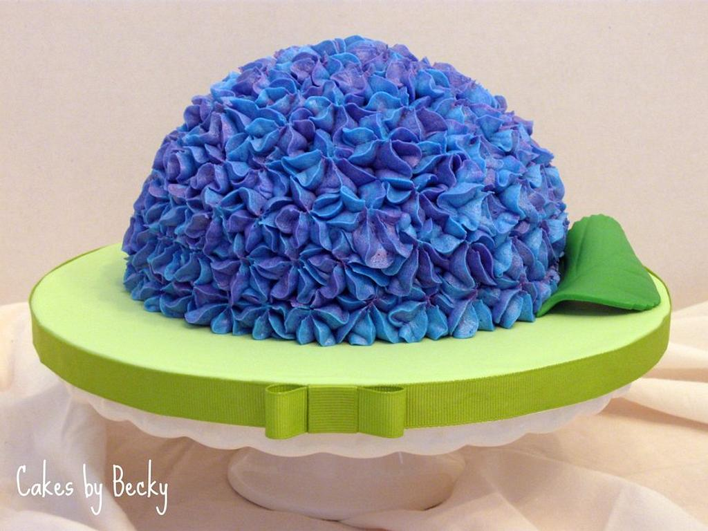 Easter Hydrangea Cake by Becky Pendergraft