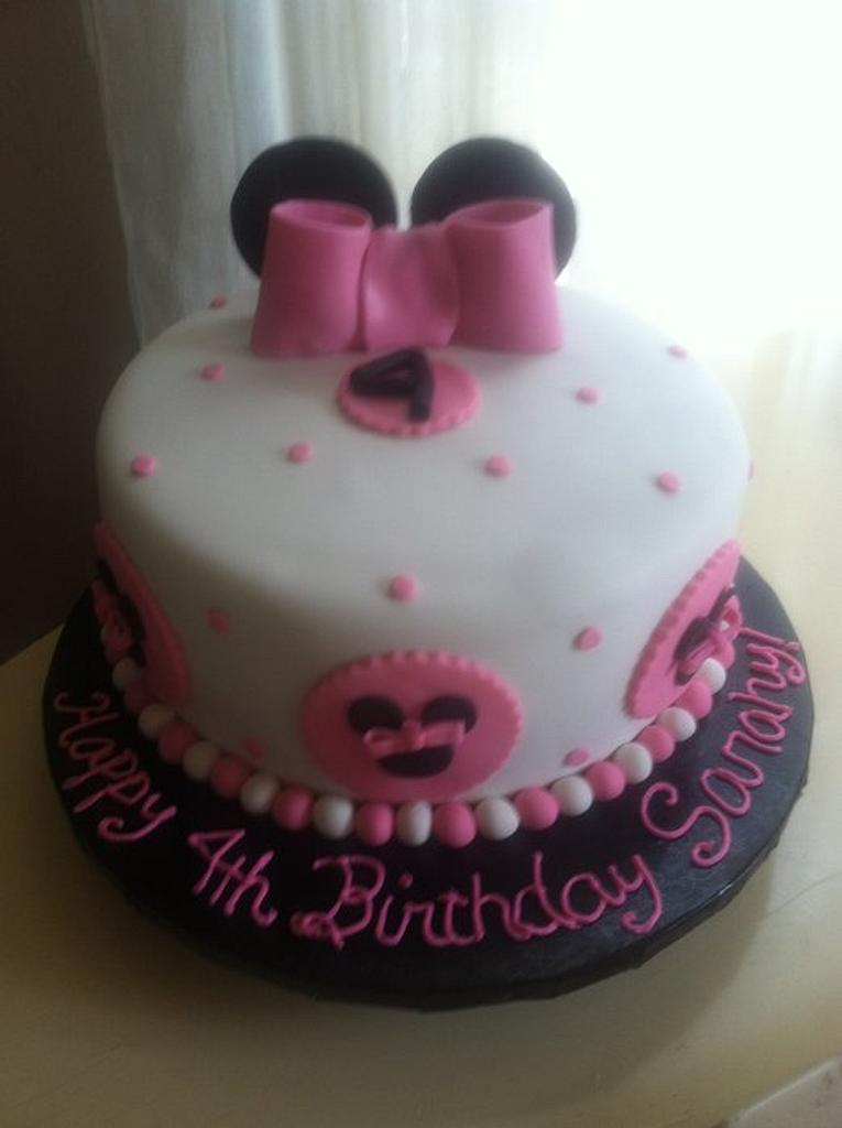 Minnie Mouse 4th Birthday Cake by Michelle Allen