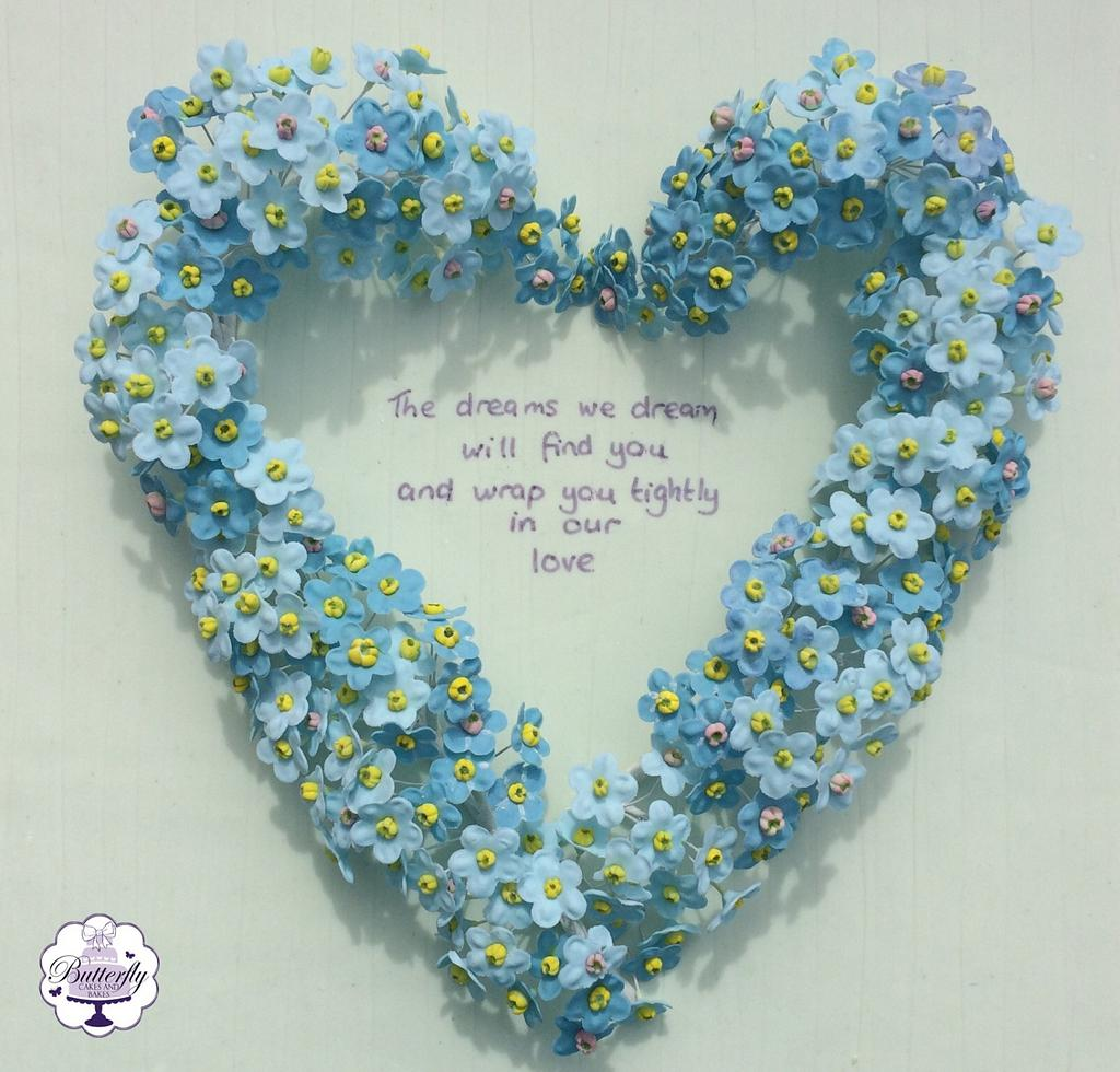 Forget me not - Too Beautiful for Earth Collaboration by Butterfly Cakes and Bakes