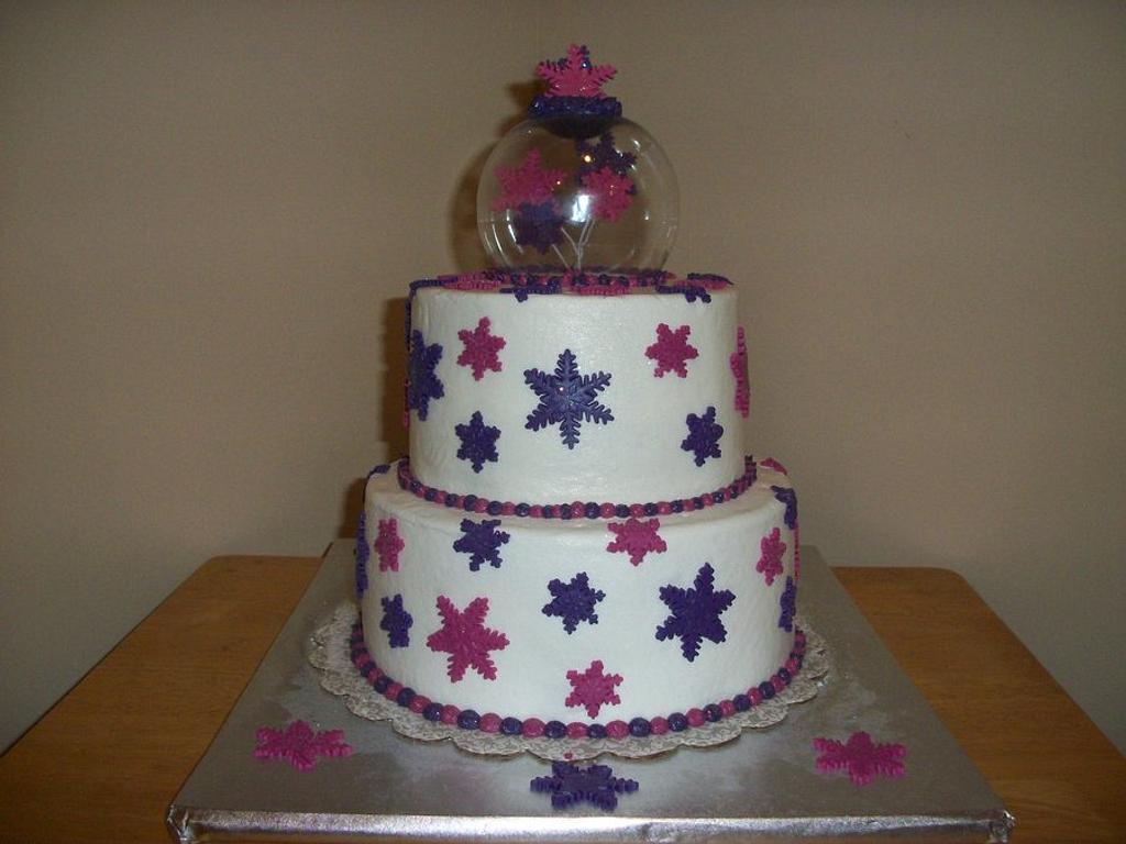 Snowglobe Cake by Tracy's Custom Cakery LLC