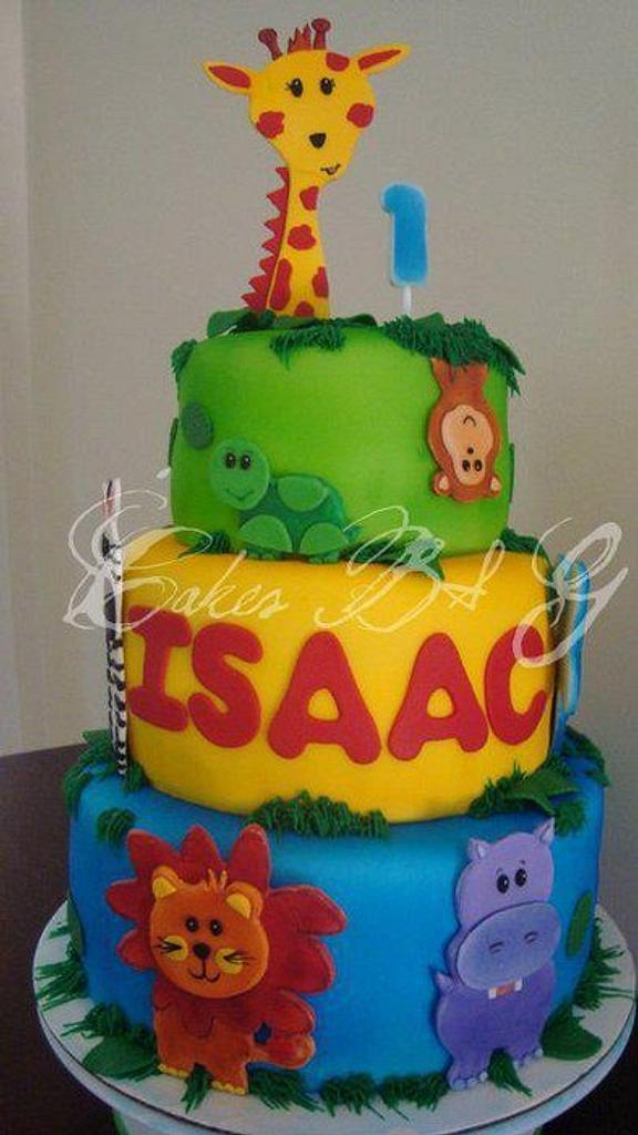 Safari Birthday Cake by Laura Barajas