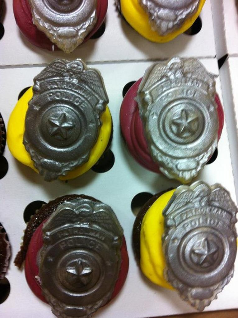 Police Cupcakes by Sherri