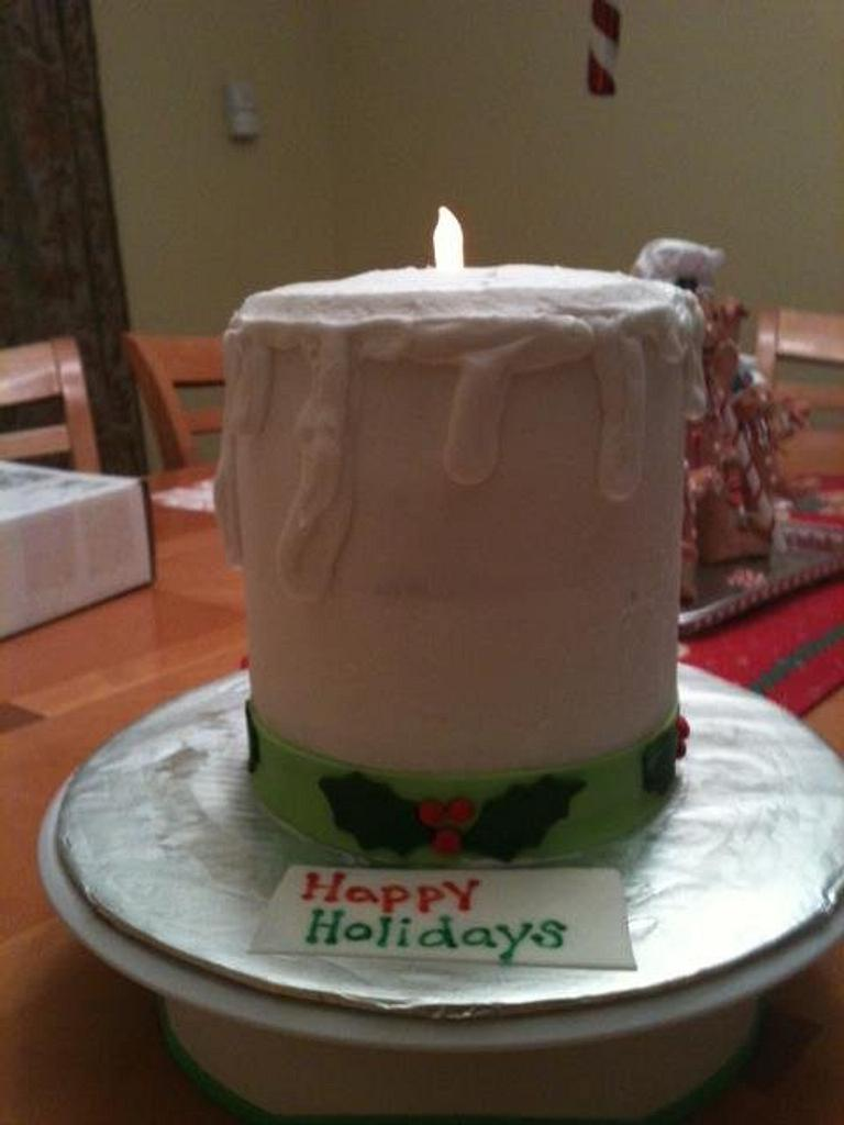 Christmas Candle cake  by michelle