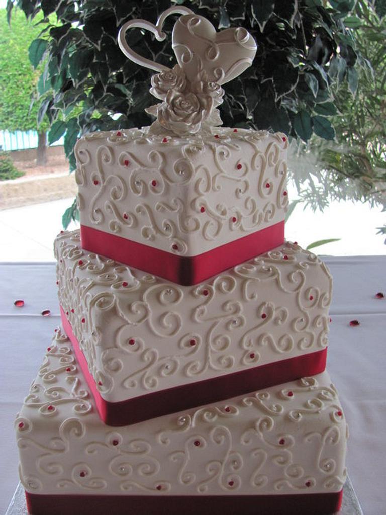 Square Scroll Cake by Jennifer Watson