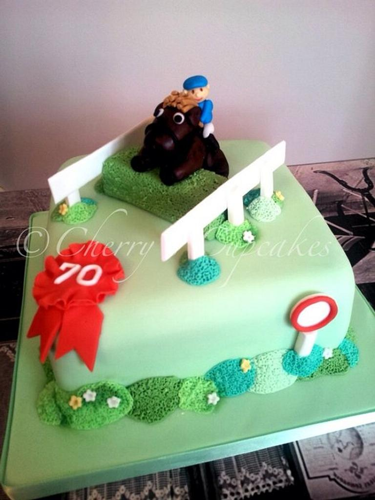 Horse Racing Cake by Cherry's Cupcakes