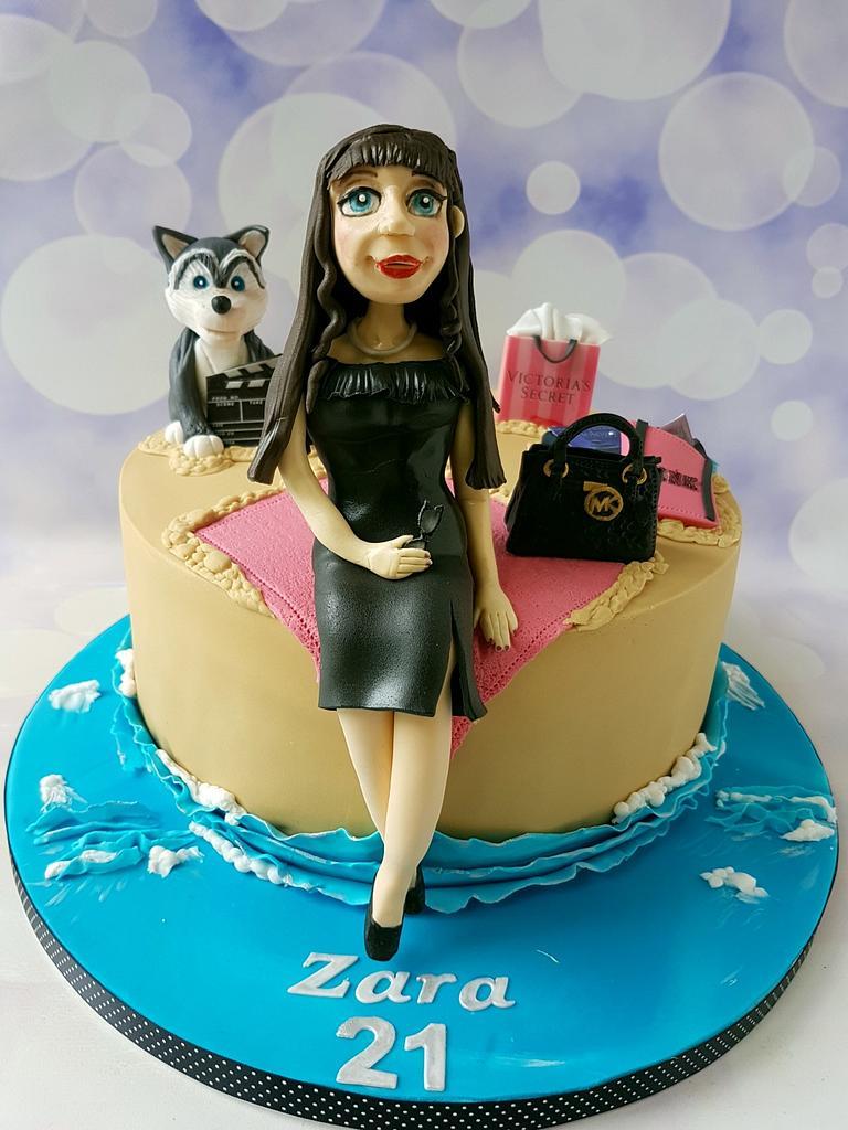21st cake by Jenny Dowd