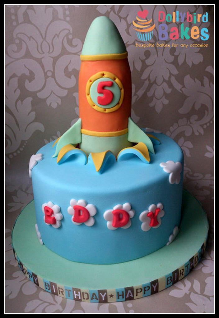 Rocket cake by Dollybird Bakes