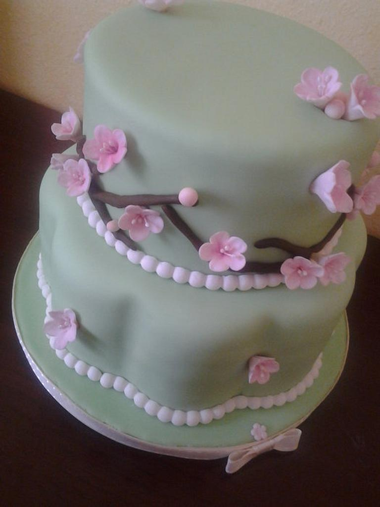Cherry blossom baby shower by Cakes and Cupcakes by Monika