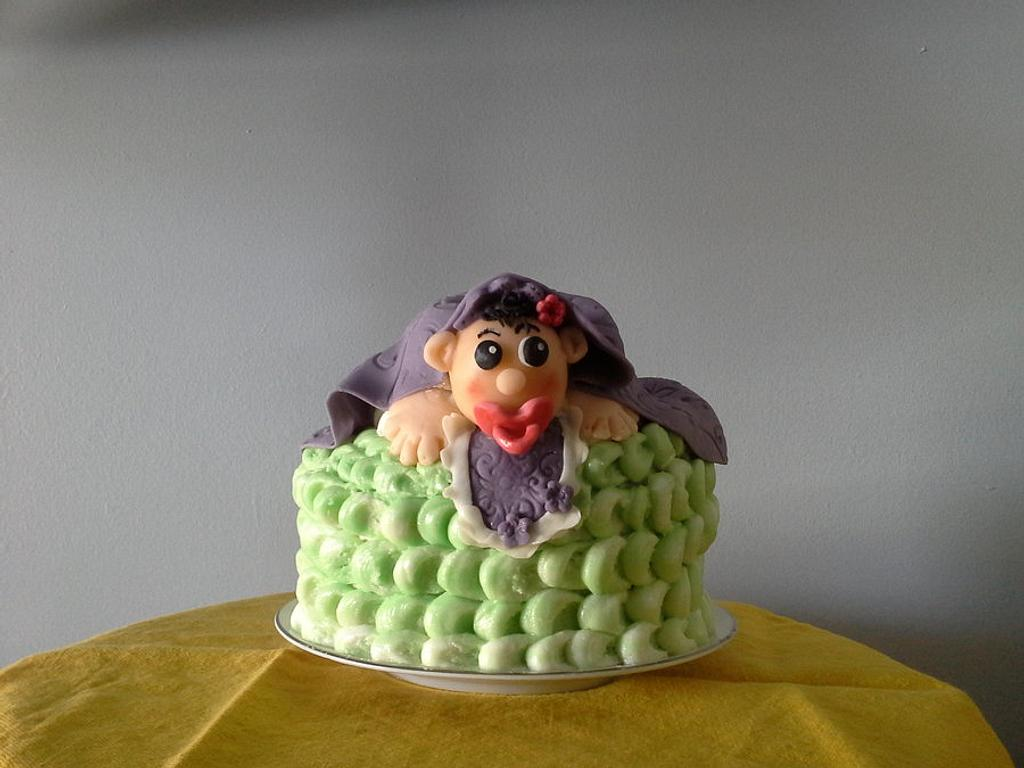 """Baby Shower Mini Cake by June (""""Clarky's Cakes"""")"""