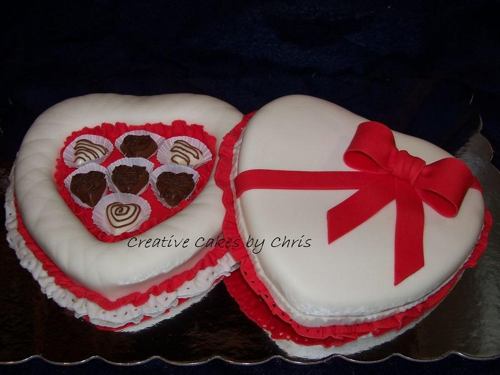 Valentine's Day Candy Box Cake by Creative Cakes by Chris