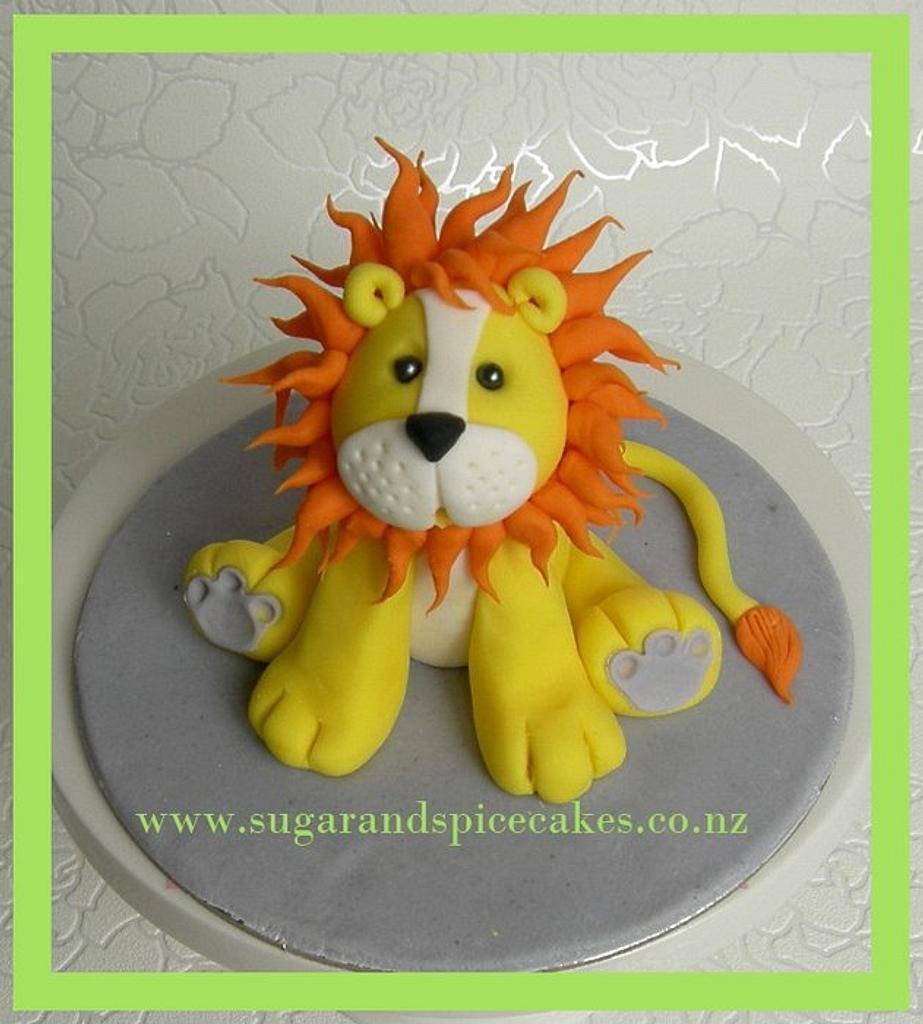 Leopold Lion Cake Topper ~ by Mel_SugarandSpiceCakes