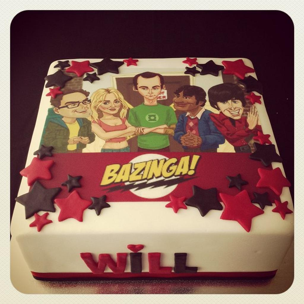 Bazinga! Big Bang Theory Cake by cjsweettreats