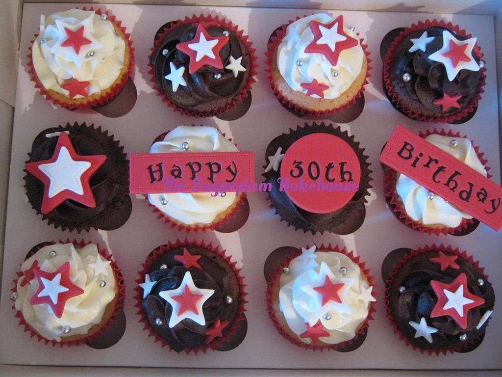 Simple 30th Birthday Cupcakes by Sam Harrison