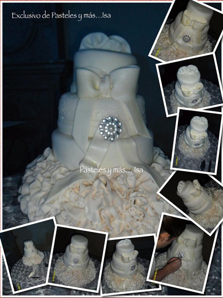 GLAMOUR WEDDING CAKE by Pastelesymás Isa