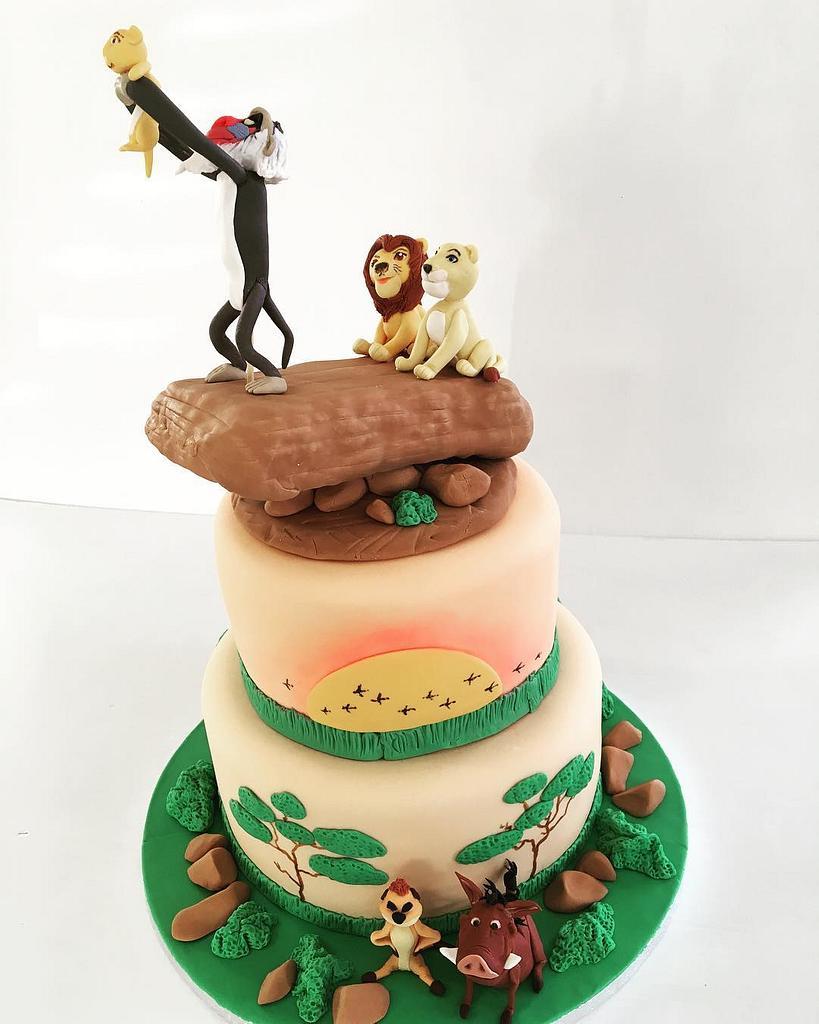 Lion King Theme Cake by Creative Cakes - Deborah Feltham