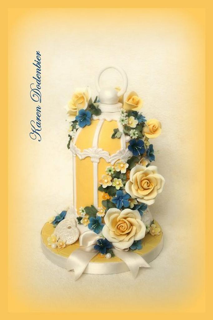 Yellow Bird Cage! by Karen Dodenbier