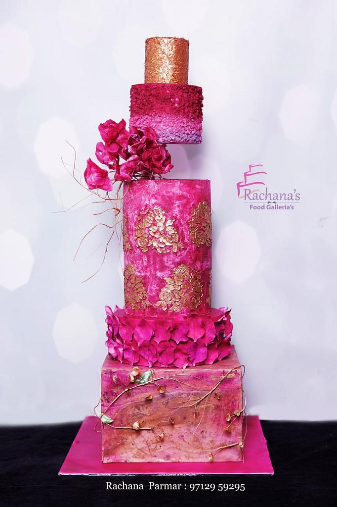 Elegant Wedding Cake by Rachana