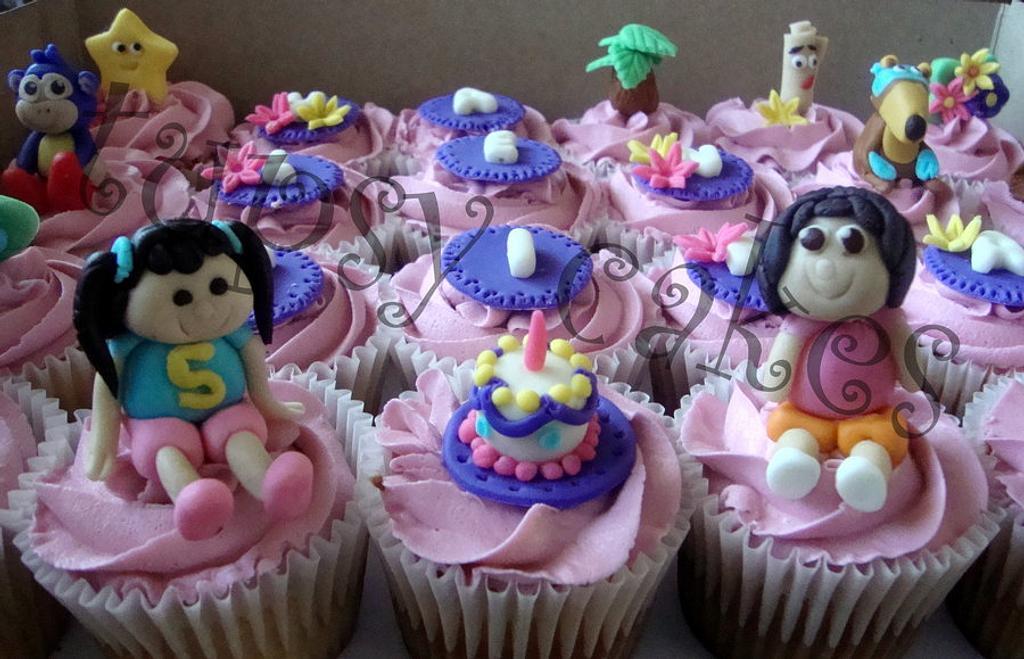 dora cupcakes by tupsy cakes