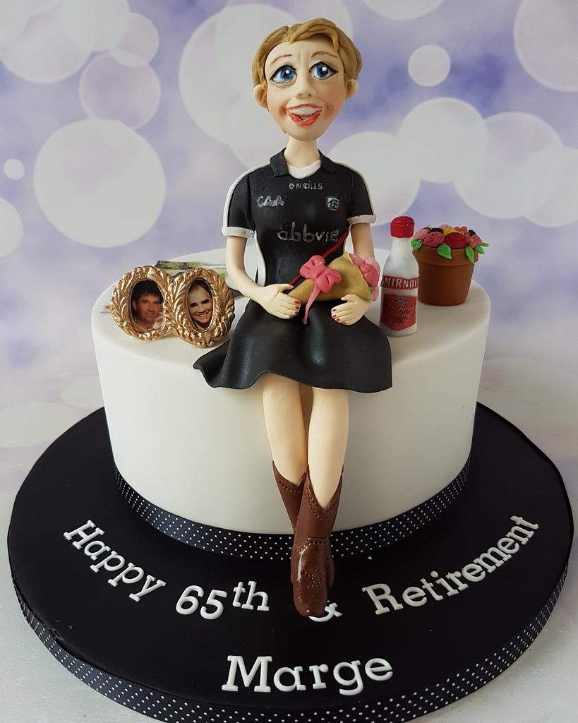 65th & Retirement cake by Jenny Dowd