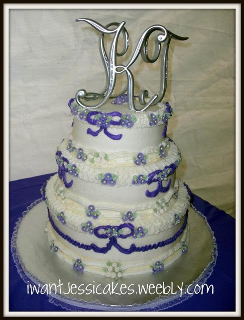 Retro wedding cake by Jessica Chase Avila