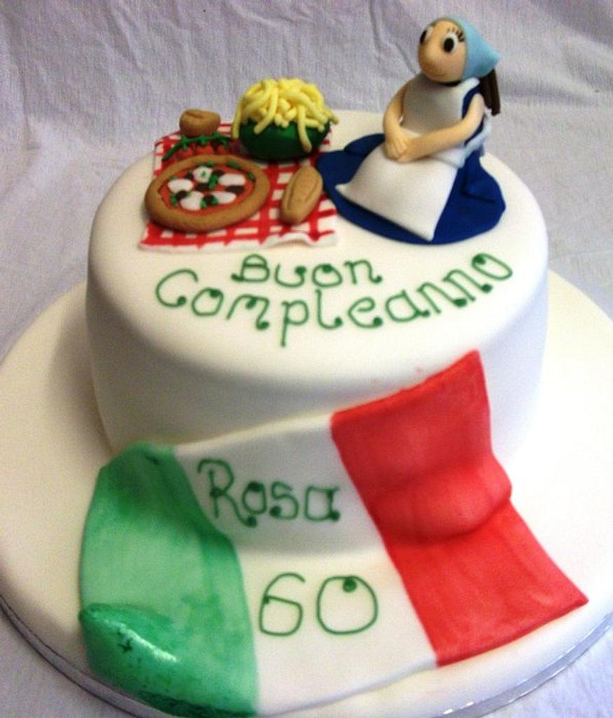 Italian Themed Birthday Cake by muffintops