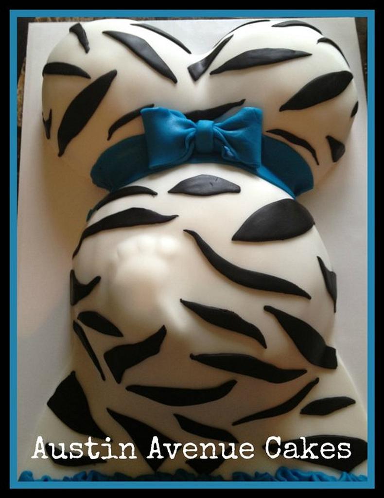Zebra print baby bump by Tiffany Austin