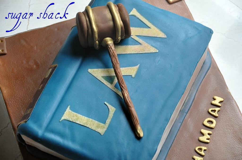 law book cake!! by shahin