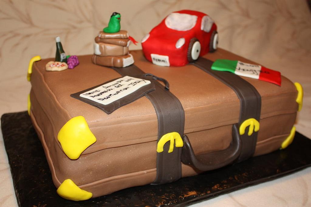 Buon Viaggio Cake by Pam and Nina's Crafty Cakes