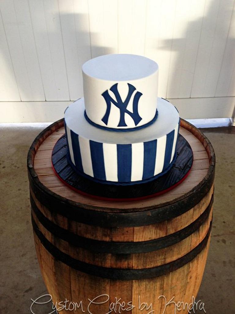 Yankees Groom's Cake by Kendra