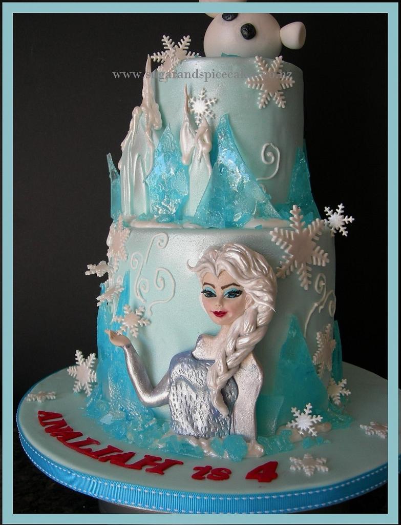 """Disney Frozen"" inspired cake  by Mel_SugarandSpiceCakes"