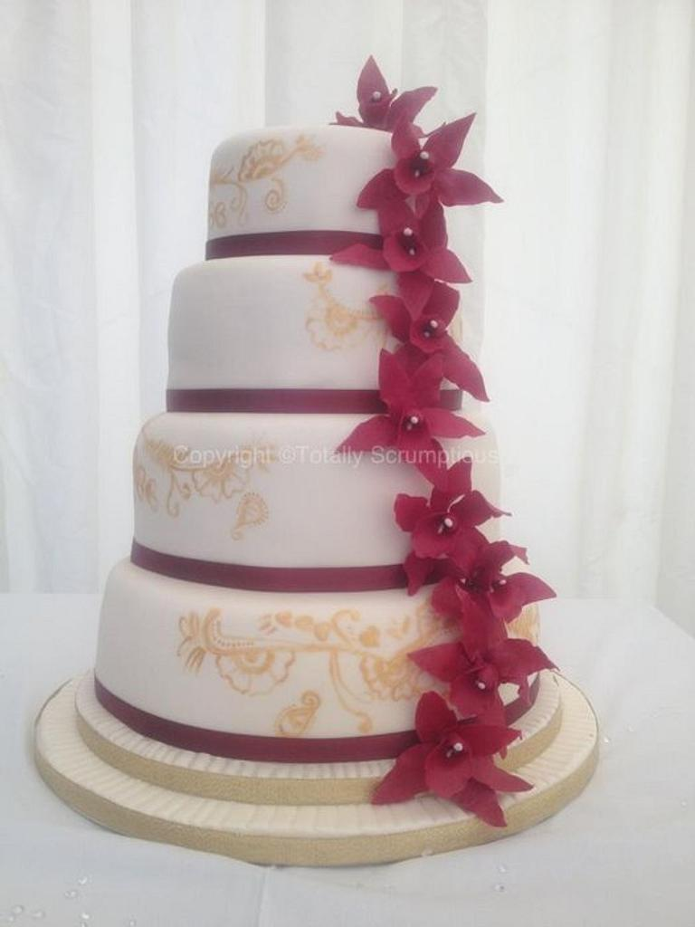 Henna Inspired Wedding Cake by Totally Scrumptious