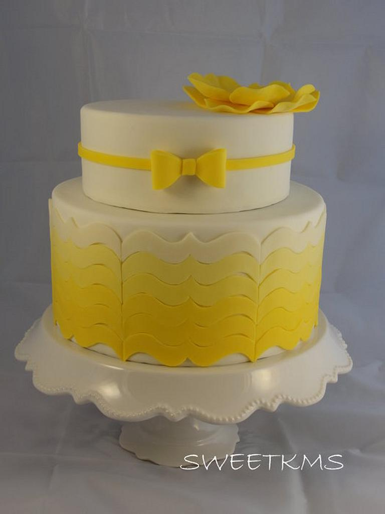 Yellow Ombre Cake by Kristen