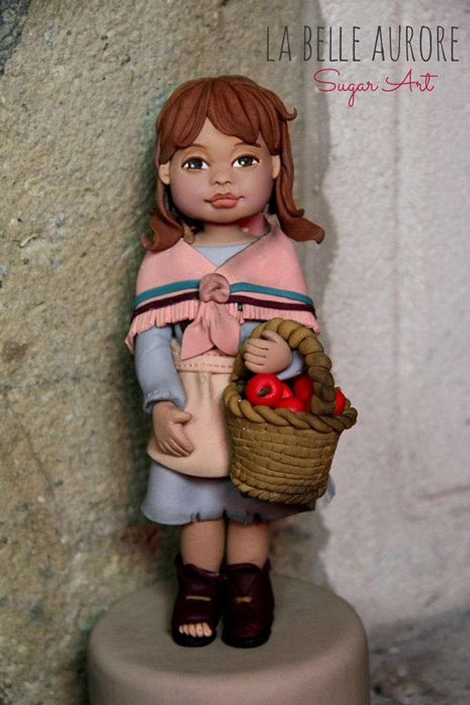 Poor girl with the apple basket by La Belle Aurore