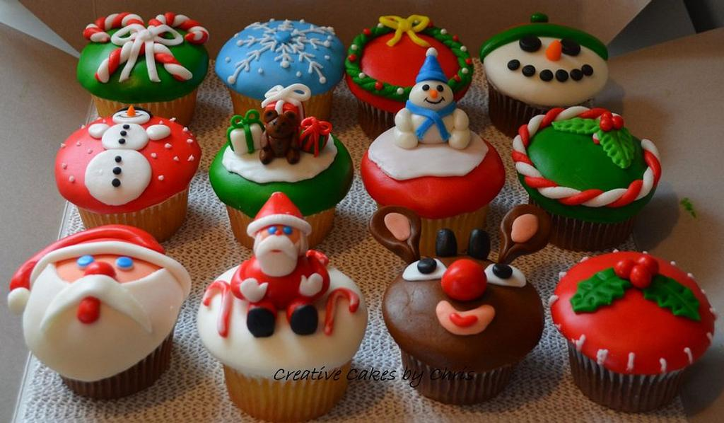 Christmas Cupcakes by Creative Cakes by Chris